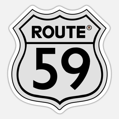 Vintagecontest Route 59 black and white - Sticker