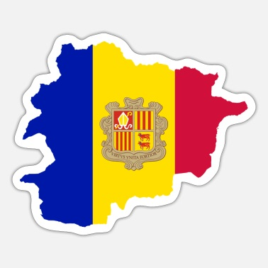 Bandera Flag fra Andorra - Sticker