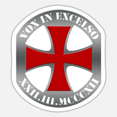 Templar Cross, Vox in Excelso - Sticker
