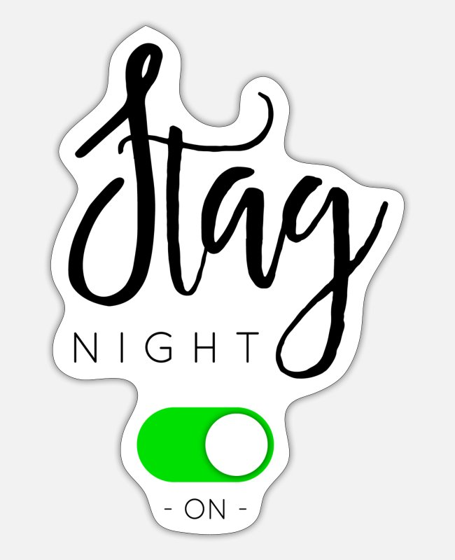 Engagement Stickers - STAG NIGHT - Sticker white mat