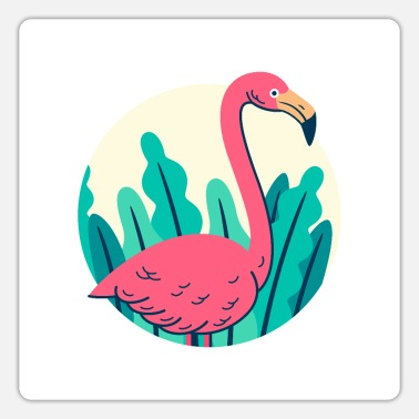 Retro Retro flamingo design - Sticker