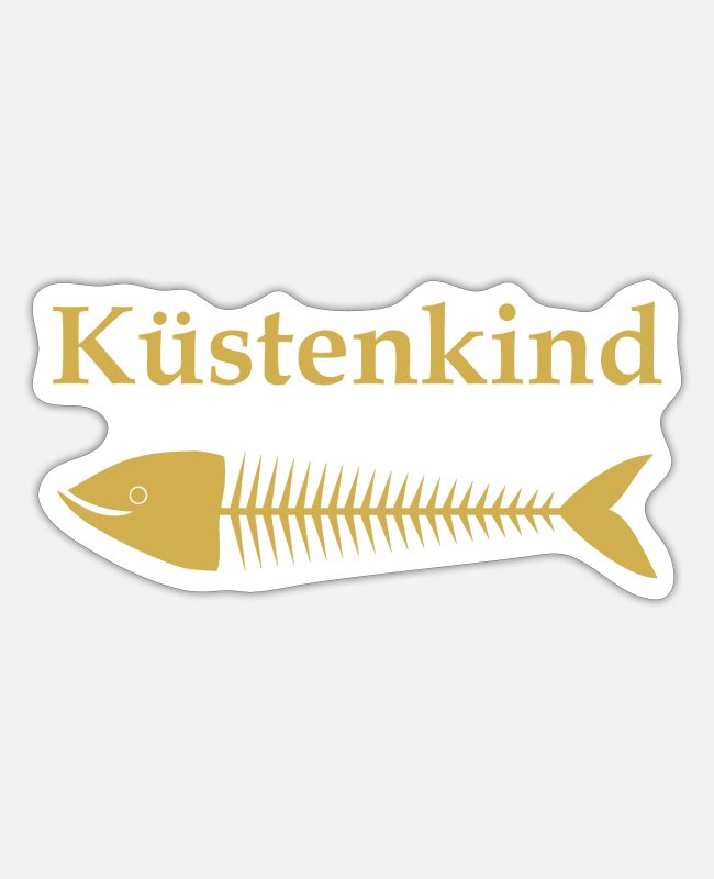 Water Stickers - Küstenkind - Sticker white mat