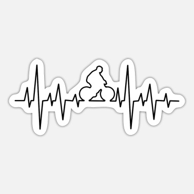 Biking bike cycling sport bike heart rate - Sticker