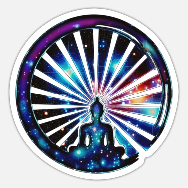 Yoga Enso Zen Meditation Yoga Japan Zeichen Buddha OM - Sticker