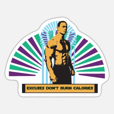 Wretch Bodybuilding excuses do not burn calories - Sticker