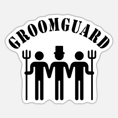 Stag Night Groomguard (stag night) - Sticker