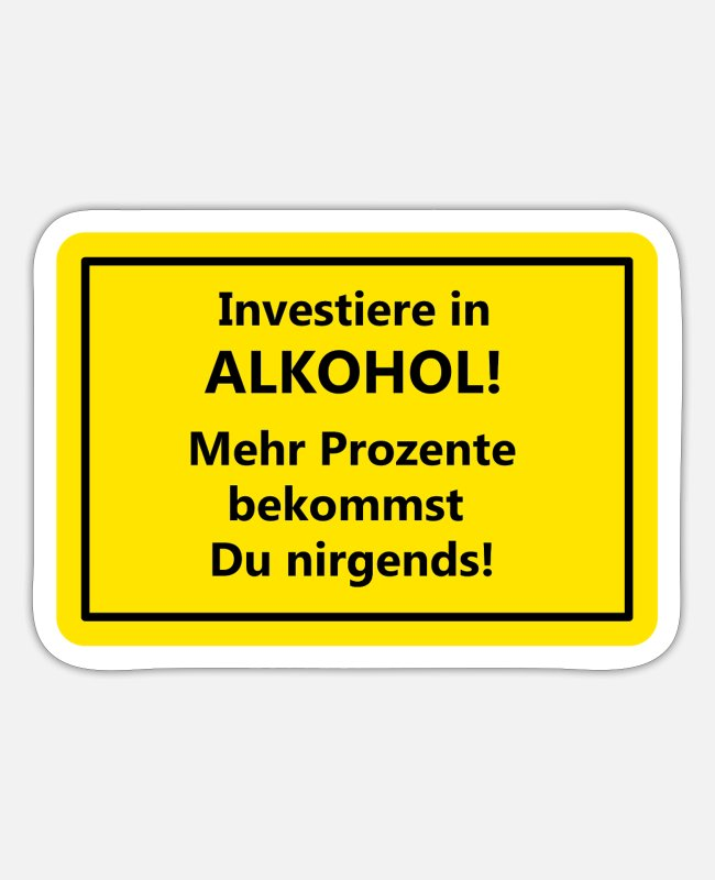 Festival Stickers - alcohol - Sticker white mat