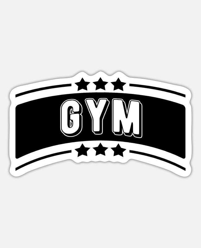 Gym Stickers - GYM - Sticker white matte