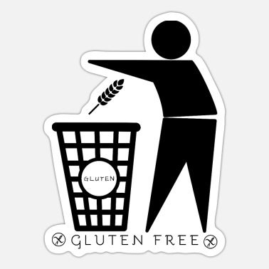 Container Gluten container (black) - Sticker