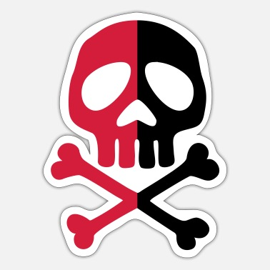 Pirate Party Skull Anarchy Pirate Party Shapes Drawing - Sticker