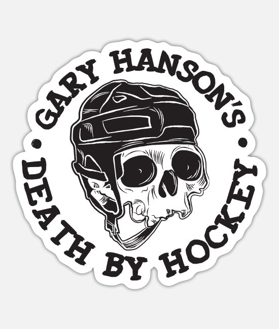 Hockey Team Stickers - Gary Hanson Classic - Sticker white mat