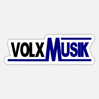 Folk Volxmusik - folk music - Bavarian folk music - Sticker