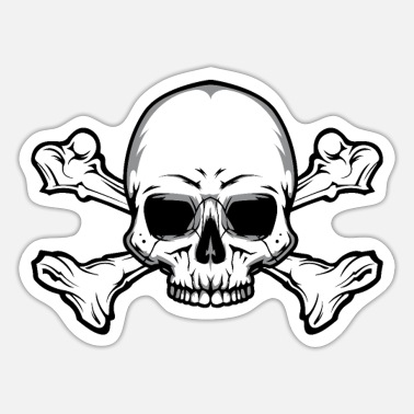Skull And Bones Skull with bones - Sticker
