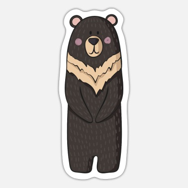 Hind Bear with big paws - Sticker