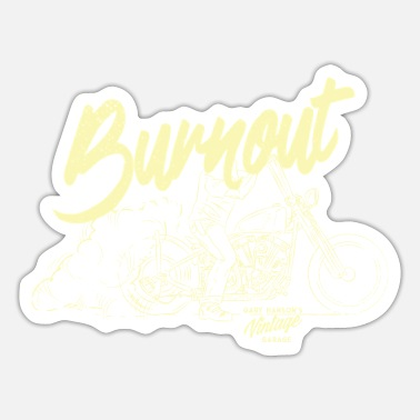 Gary Hanson Burnout - Sticker