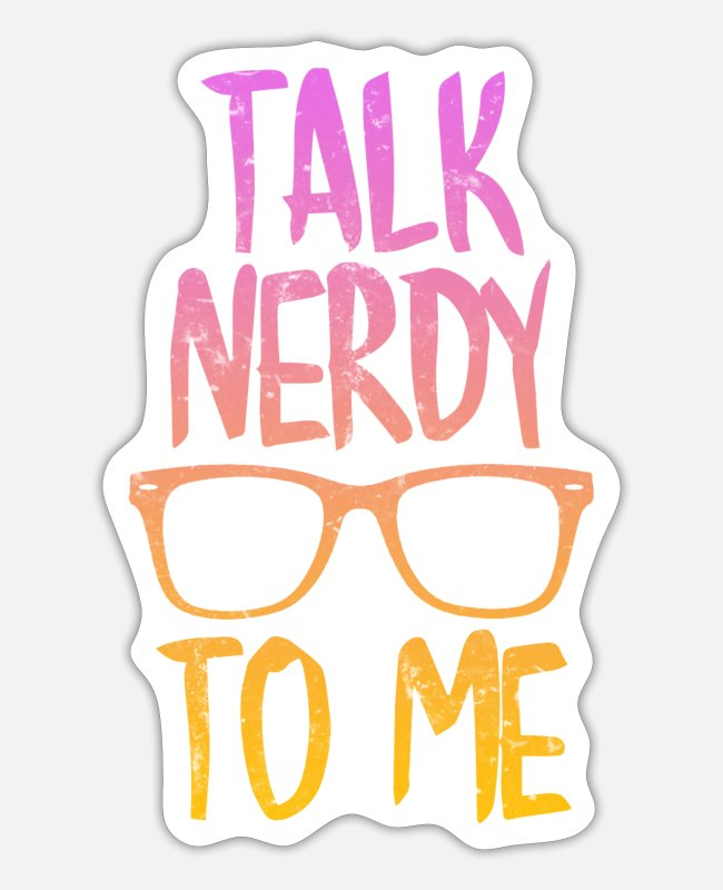 Easter Stickers - Talk nerdy to me - Sticker white mat