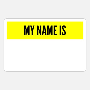 Name My name is My name is name tag - Sticker