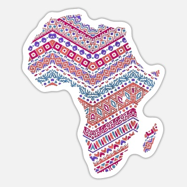 Cute Country T Africa Map - African Pride Traditional Ethnic - Sticker