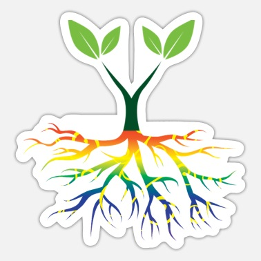 Nature Conservation Nature - Rainbow - Conservation - Roots - Sticker