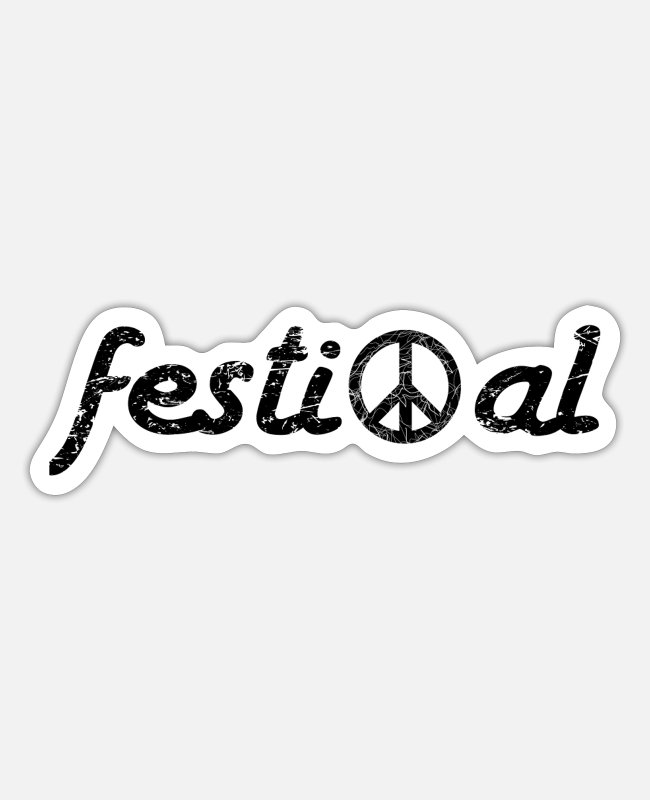 Festival Sticker - festival peace - Sticker Mattweiß