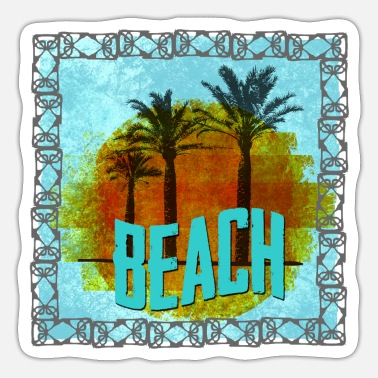 Beach Beach - Palm Beach - Sticker