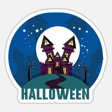 Haunted House Halloween haunted house haunted house - Sticker