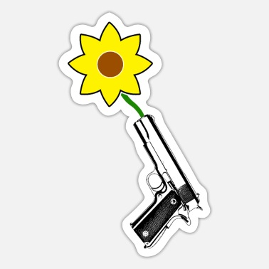 Anti-violence FLOWER PISTOL ANTI GUN VIOLENCE ENOUGH MARCH PROTEST - Sticker