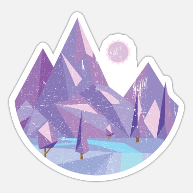 Nature Geometric nature - Sticker