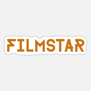 Movie Star Movie star lettering gold - Sticker