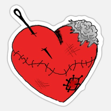 Injured Heartache Heart Love Scars Wounds Injured - Sticker