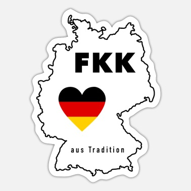 Tradition Nudist tradition Tradition body cult in Germany - Sticker