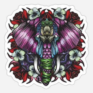 Mythical Collection V2 Elephant Red - Sticker