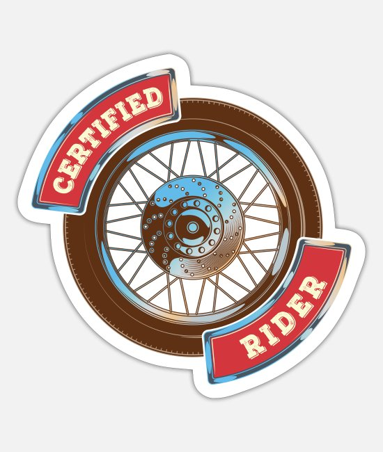 Speed Stickers - Motorcycle motor two-wheeled gift - Sticker white mat