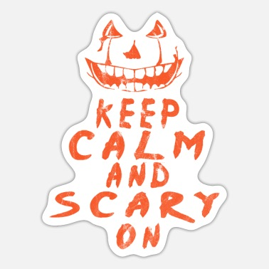 Halloween Halloween Holiday Octover Keep Calm Scarry - Sticker