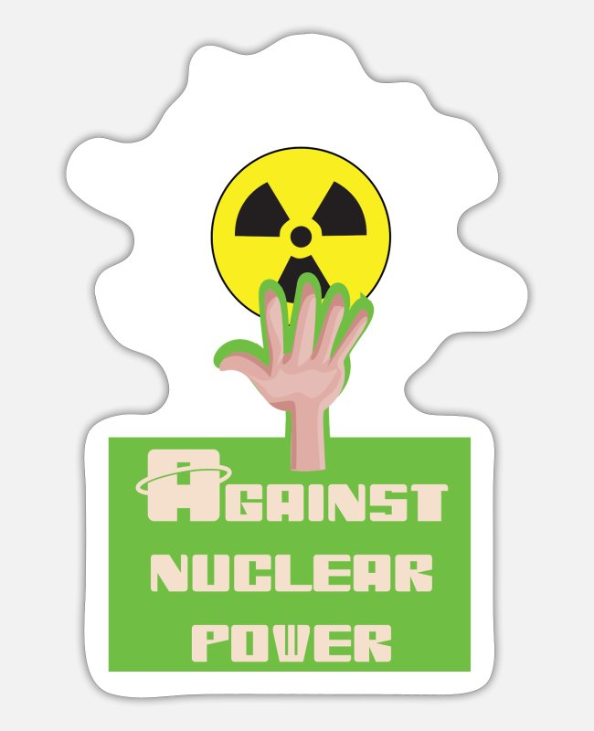 Chernobyl Stickers - Against nuclear power and nuclear energy for nuclear phase-out - Sticker white mat