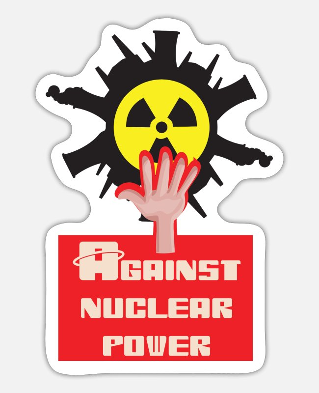 Pollution Stickers - Nuclear power nuclear phase-out yes and against nuclear power - Sticker white mat