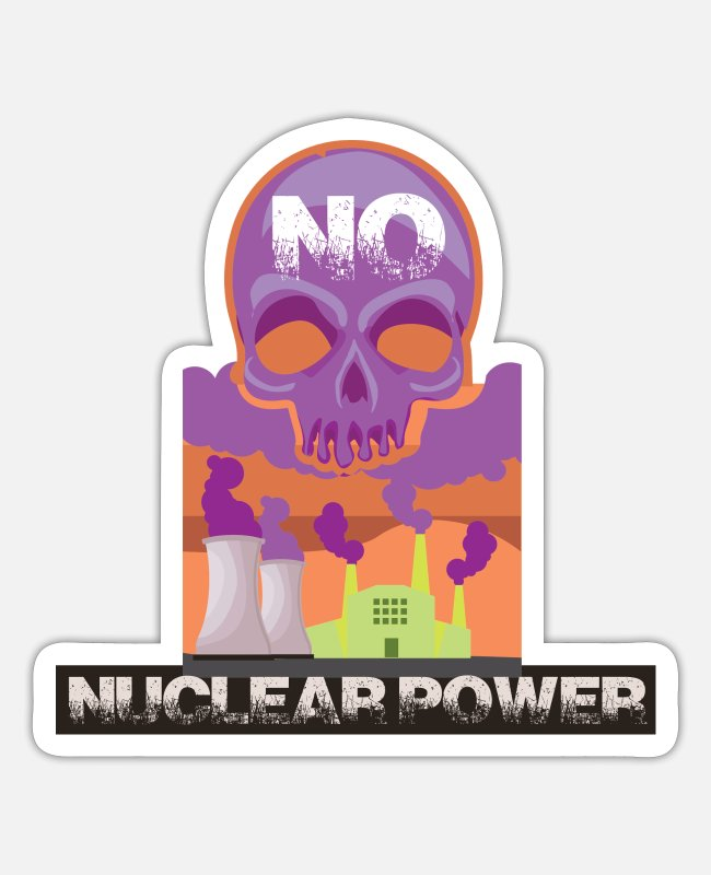 Chernobyl Stickers - No nuclear power and nuclear power plant pro environmental protection - Sticker white mat