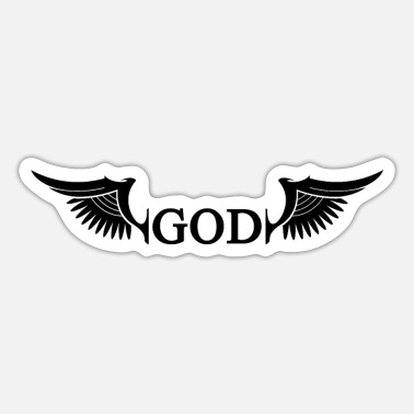 God God god wings - Sticker