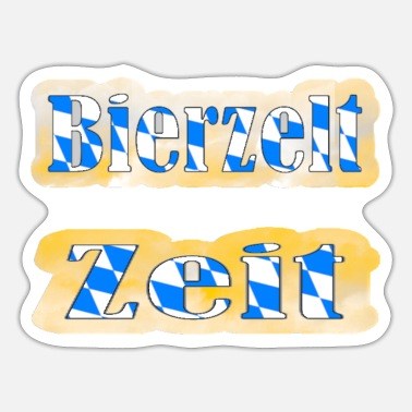 Beer Tent Beer tent time - Sticker