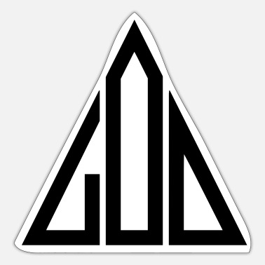 God God God Triangle - Sticker