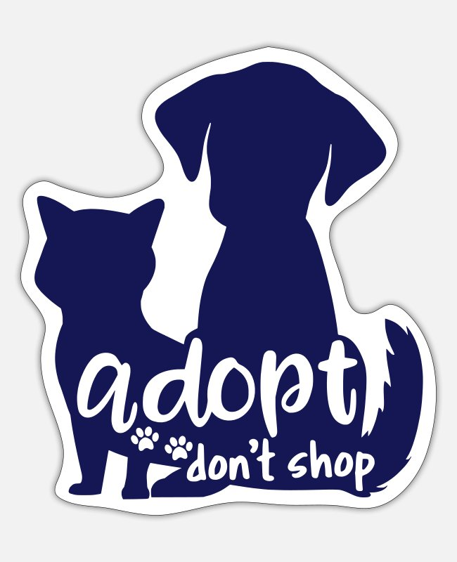 Shop Stickers - Adopt Don t Shop - Sticker mat wit