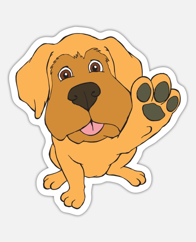 Mastiff Puppy Stickers - Mastiff puppy - Sticker white matte