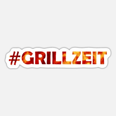 Barbecuën #Grillzeit - Het is altijd tijd om (m) te barbecuen! - Sticker