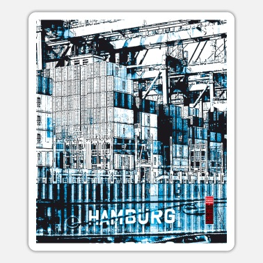 Container 01 hamburg container container ships - Sticker
