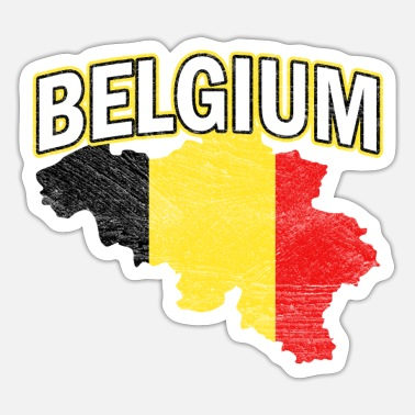 National Colours Belgium Nation Nationality - Sticker