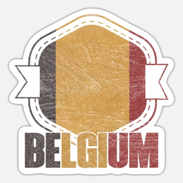 National Belgium national colors nation - Sticker