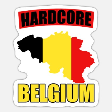 National Belgium nationality national colors - Sticker