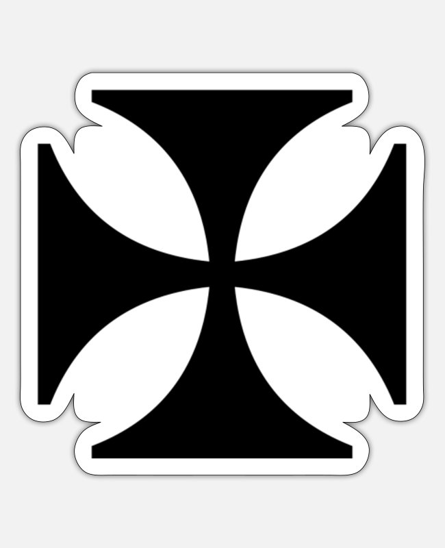 Crusader Stickers - Cross Christianity Crusader Gift Religion - Sticker white mat