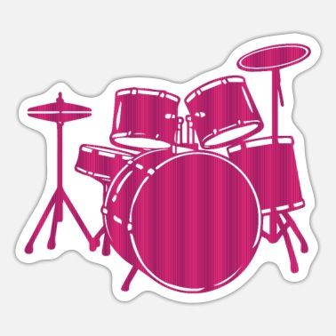 Drum Set Drums, Drum Set - Drummer Gift Idea - Sticker