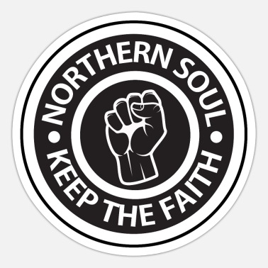 Northern Soul Northern Soul - Keep the Faith logo - Sticker